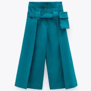 NWT Zara LIMITED EDITION Sea Green Culottes, XS